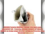 MUZZANO Pochette ORIGINALE Cocoon Gris souris pour BLACKBERRY Q10 - Protection Antichoc ELEGANTE