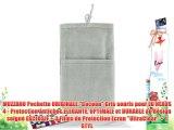 MUZZANO Pochette ORIGINALE Cocoon Gris souris pour LG NEXUS 4 - Protection Antichoc ELEGANTE
