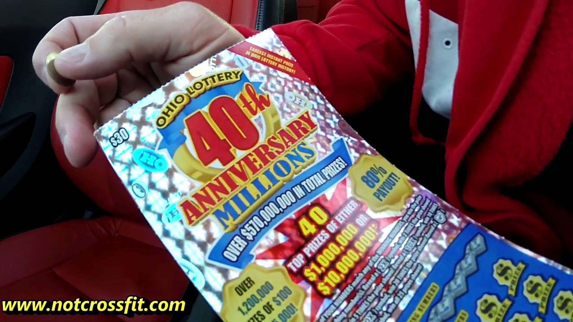BIG WIN $30 scratch off ticket Ohio Lottery '40th anniversary millions'