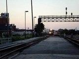 2 Train Meet! NS #7567 and BNSF #4305, Joliet IL.