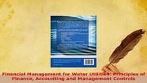 PDF  Financial Management for Water Utilities Principles of Finance Accounting and Management Free Books