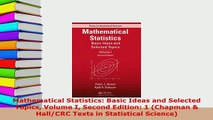 Download  Mathematical Statistics Basic Ideas and Selected Topics Volume I Second Edition 1 Free Books