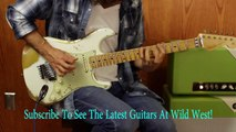 Wild West Guitars Exclusive Fender Stratocaster White Lightning HLE Gold Floyd Rose