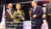 Chauny: 60e anniversaire du jumelage de la ville avec Andenne (Belgique)