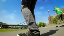 Skateboarding (Longboard), Frankfurt am Main, Mainufer