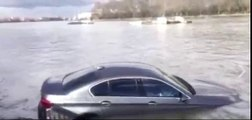 BMW filmed sinking into the River Thames