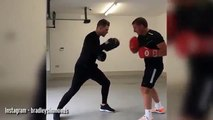 Brendan Rodgers has taken up boxing - and watching him train is oddly captivatin