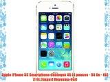 Apple iPhone 55 Smartphone débloqué 4G (4 pouces - 64 Go - iOS 7) Or (Import Royaume-Uni)