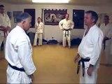 Tom Hills Karate Dojo; Self defense combat blocks & arm bar counter measures
