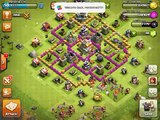 Clash of clans attack-4:Rushed Town Hall 10 base