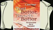 new book  Test Better Teach Better Book