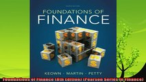 best book  Foundations of Finance 8th Edition Pearson Series in Finance