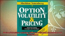 new book  Option Volatility  Pricing Advanced Trading Strategies and Techniques