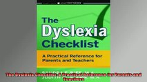 Free Full PDF Downlaod  The Dyslexia Checklist A Practical Reference for Parents and Teachers Full EBook