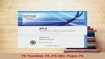 Download  F6 Taxation TX FA 08 Paper F6 PDF Book Free