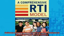 READ book  A Comprehensive RTI Model Integrating Behavioral and Academic Interventions Full EBook
