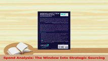 PDF  Spend Analysis The Window Into Strategic Sourcing Download Full Ebook