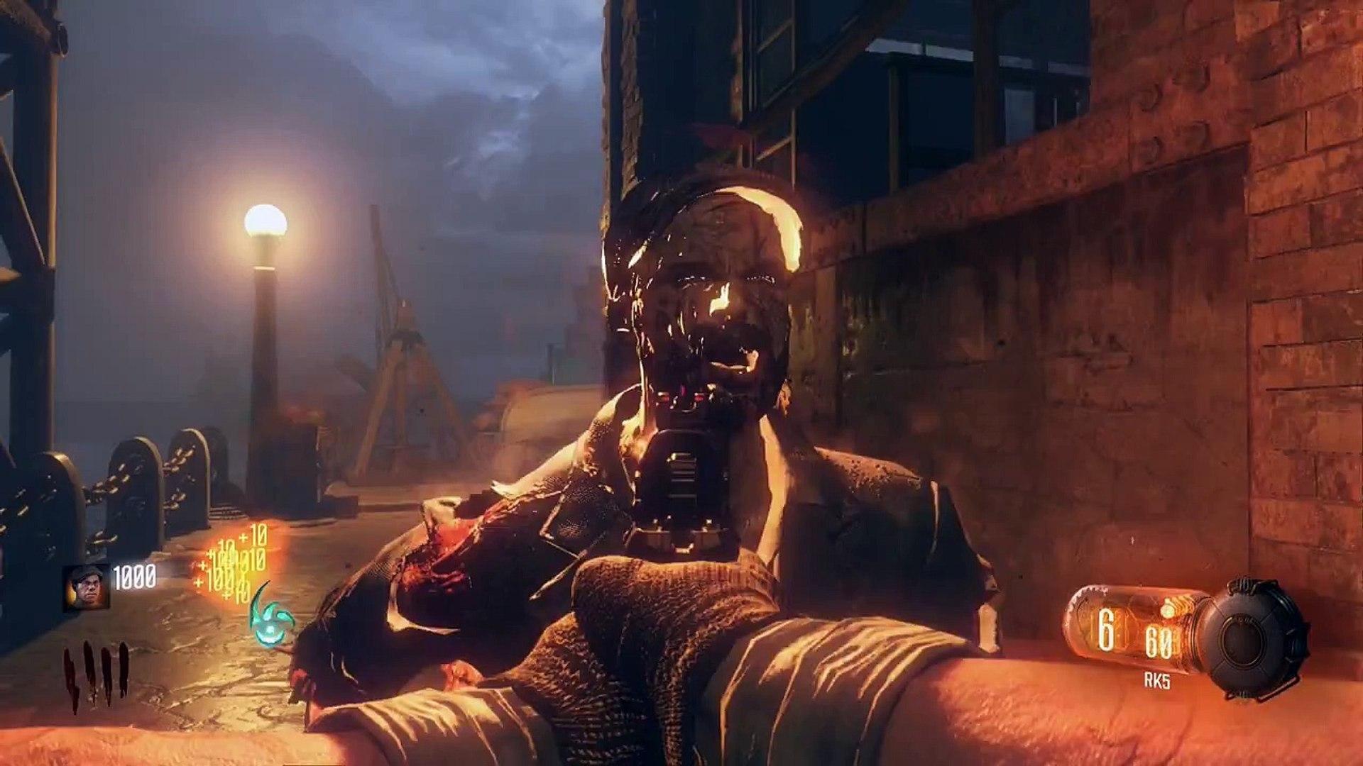 Black Ops 3 ZOMBIES SHADOWS OF EVIL SECRET GRENADE! DOUGHNUT & CAKE TRIP MINES  CART LOCA