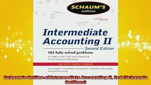 READ book  Schaums Outline of Intermediate Accounting II 2ed Schaums Outlines Full Free