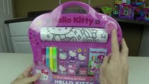 SUPER FUN & CUTE HELLO KITTY Coloring Kit Hello Kitty Kinder Surprise Eggs Stamp Coloring Book Kit