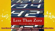 FREE DOWNLOAD  Less Than Zero Large Print Edition The Case for a Falling Price Level in a Growing  DOWNLOAD ONLINE