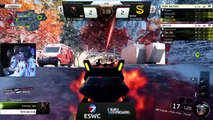 ESWC 2016 COD - 1/2 Finals Splyce vs Rise Gaming Game 3 & 4 & 5 (FR)