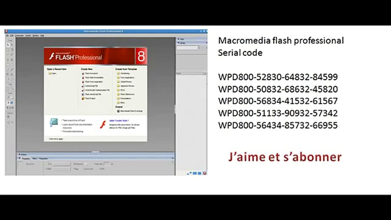 serial number for flash 8
