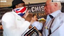 FIGHT!! Dereck Chisora v Kubrat Pulev - Tempers flare at news conference