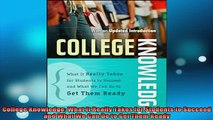 READ book  College Knowledge What It Really Takes for Students to Succeed and What We Can Do to Get Online Free