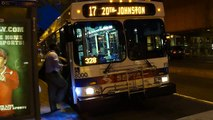 SEPTA: New Flyer D40LF #8000 Route 17 @ South 5th and Market Streets!