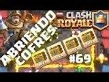 Abriendo Cofres  4 Gold Chest de Arena 6  2 Free chest  1 Crown Chest Clash Royale #69