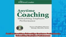 Free PDF Downlaod  Anytime Coaching Unleashing Employee Performance Unleashing Employee Performance  DOWNLOAD ONLINE
