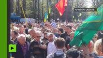L'Ukraine a célébré le Jour de la Victoire avec des bagarres et des provocations