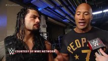 WWE - WWE News - Roman Reigns celebrates with The Rock after winning the Royal Rumble Match - WWE Network