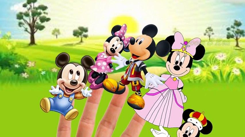 The Finger Family Mickey Mouse Nursery Rhyme with Lyrics 2016