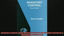 FREE DOWNLOAD Inventory Control (International Series in