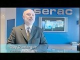 Serac on Euronews TV  (June 2005). 2 innovations : Canopy filler and Multifow nozzle