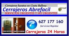 Cerrajeros 24 horas Costa Ballena, cerrajeros urgentes Costa Ballena