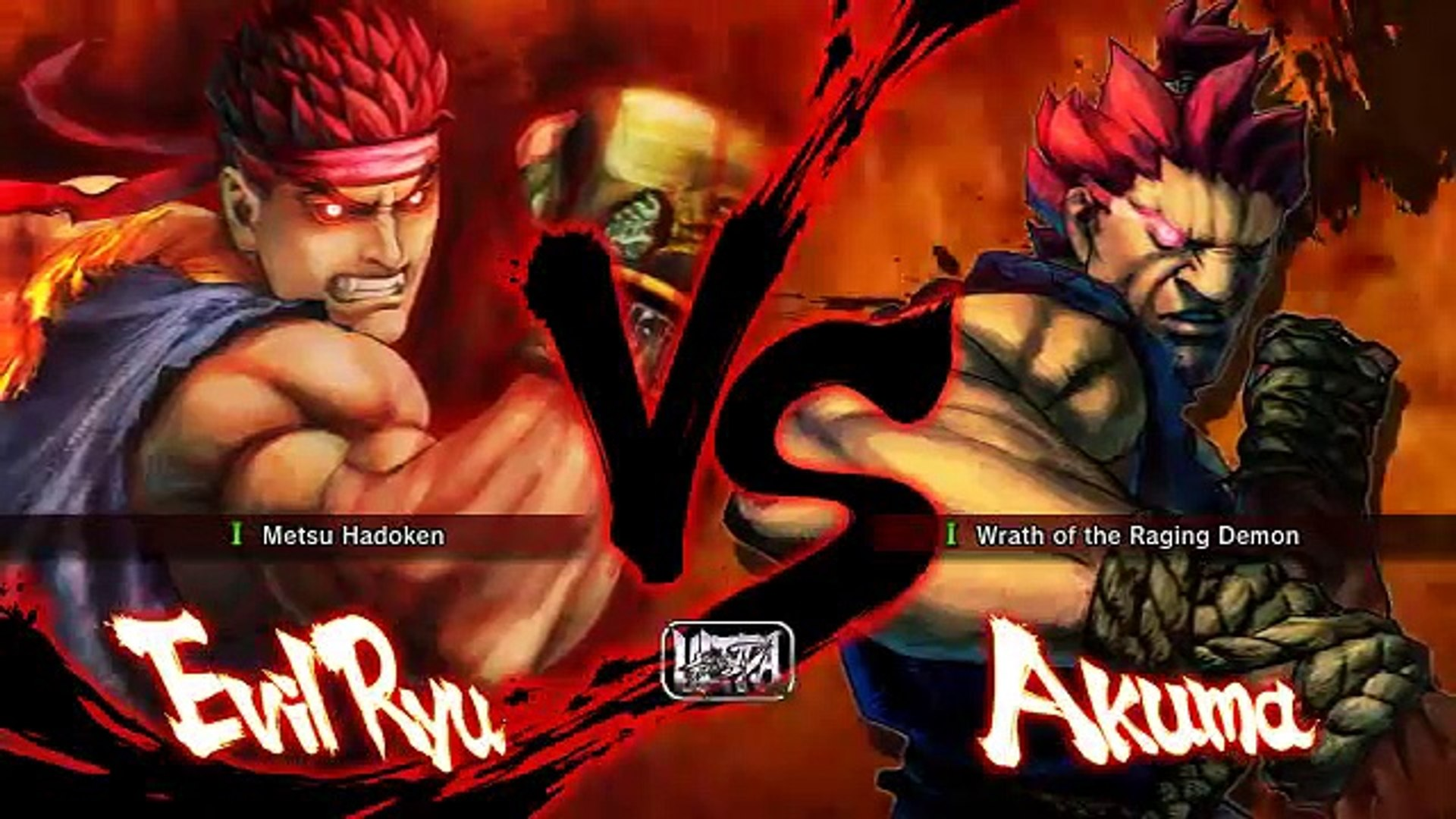 Batalla De Ultra Street Fighter Iv Evil Ryu Vs Akuma