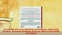 PDF  Mixed Martial Arts Fighting Techniques Apply the Modern Training Methods Used by MMA Free Books