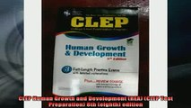READ book  CLEP Human Growth and Development REA CLEP Test Preparation 8th eighth edition Full Free