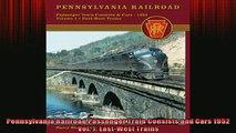 FREE PDF  Pennsylvania Railroad Passenger Train Consists and Cars 1952 Vol 1 EastWest Trains  FREE BOOOK ONLINE