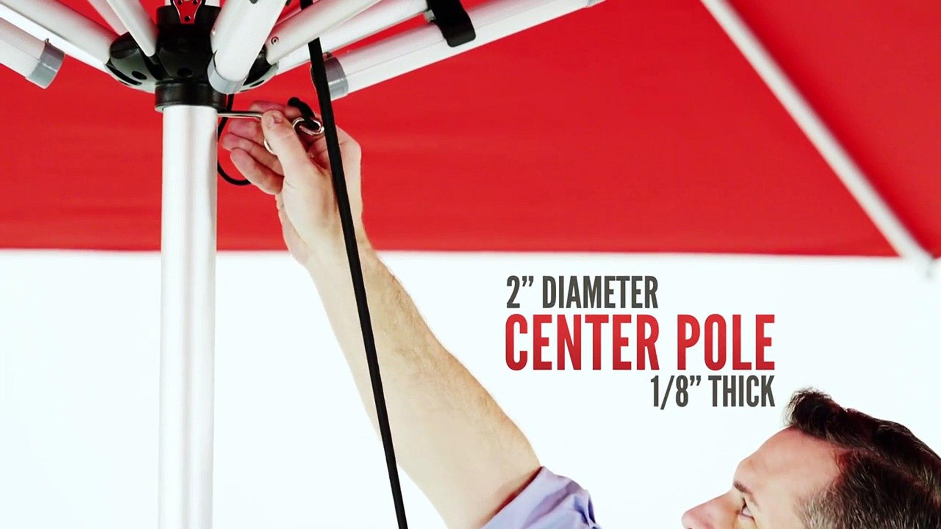 Monaco Series - Premium Center Post Umbrella