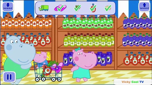 Peppa Pig English in the supermarket | Games For Kids | Gameplay Peppa Pig VickyCoolTV