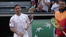 ATP - Rome 2016 - Francesco Totti de l'AS Roma joue au tennis avec Nick Kyrgios