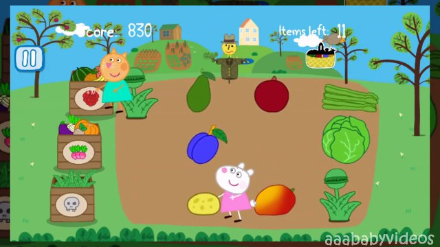 Peppa Pig's Garden ✿ Learn Fruits, Vegetables, Sorting for Kids & Toddlers ✿ Full Gameplay Episode
