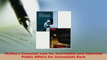 Download  McNaes Essential Law for Journalists and Essential Public Affairs for Journalists Pack  Read Online