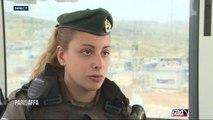 Portrait d'une soldate en poste à la frontière victime d'une tentative d'attaque au couteau