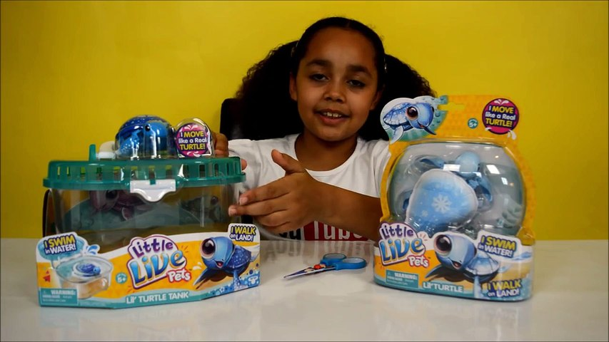 Little Live Pets Lil Turtle Tank & SURPRISE Lil Turtle | Kids Toy Review