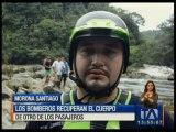 Bomberos recuperan otro cuerpo del accidente de bus en el río Paute